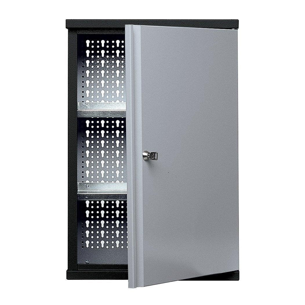 armoire de rangement en m tal gris clair kupper 40 cm 1 porte leroy merlin. Black Bedroom Furniture Sets. Home Design Ideas