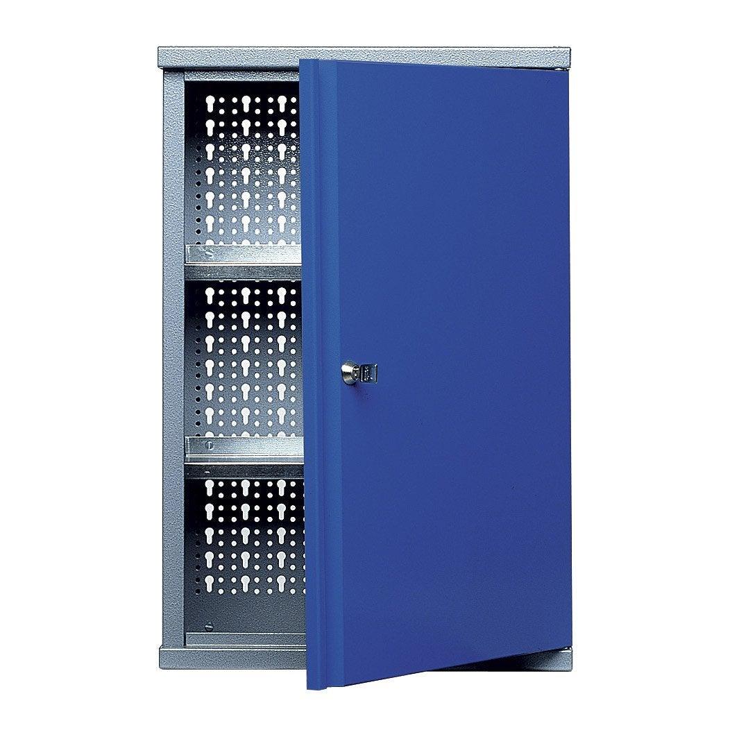 Armoire de rangement en m tal bleu kupper 40 cm 1 porte for Armoire de rangement leroy merlin