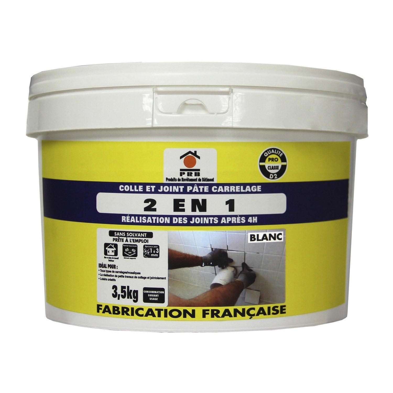 Colle et joint 2 en 1 pour carrelage et mosa que prb for Joint carrelage hydrofuge leroy merlin