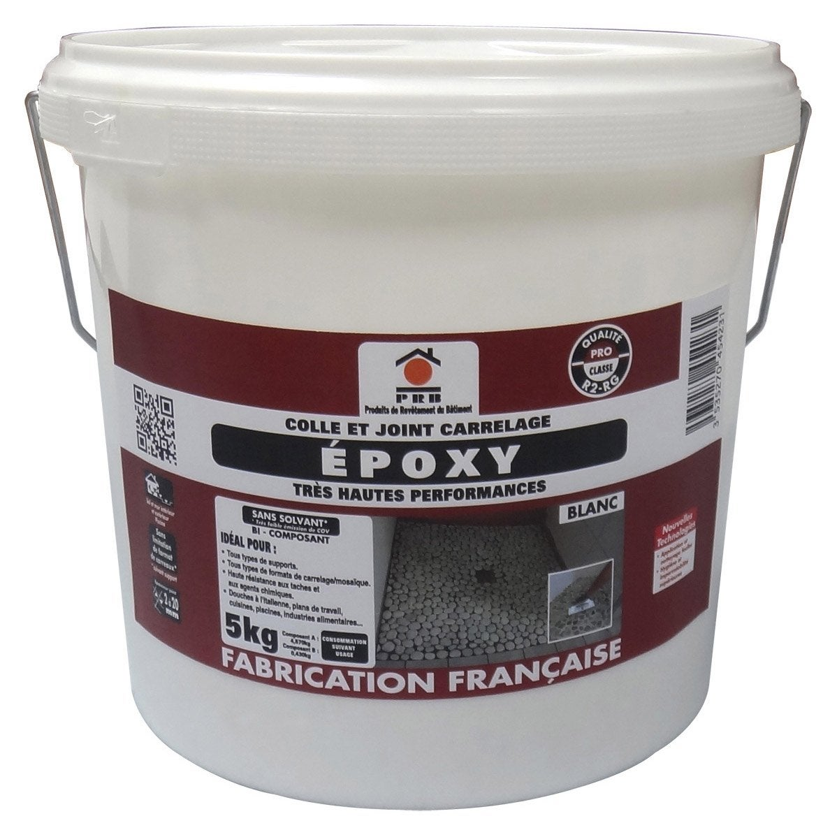 Colle et joint epoxy haute performance pour carrelage mosa que prb blan - Leroy merlin colle carrelage ...