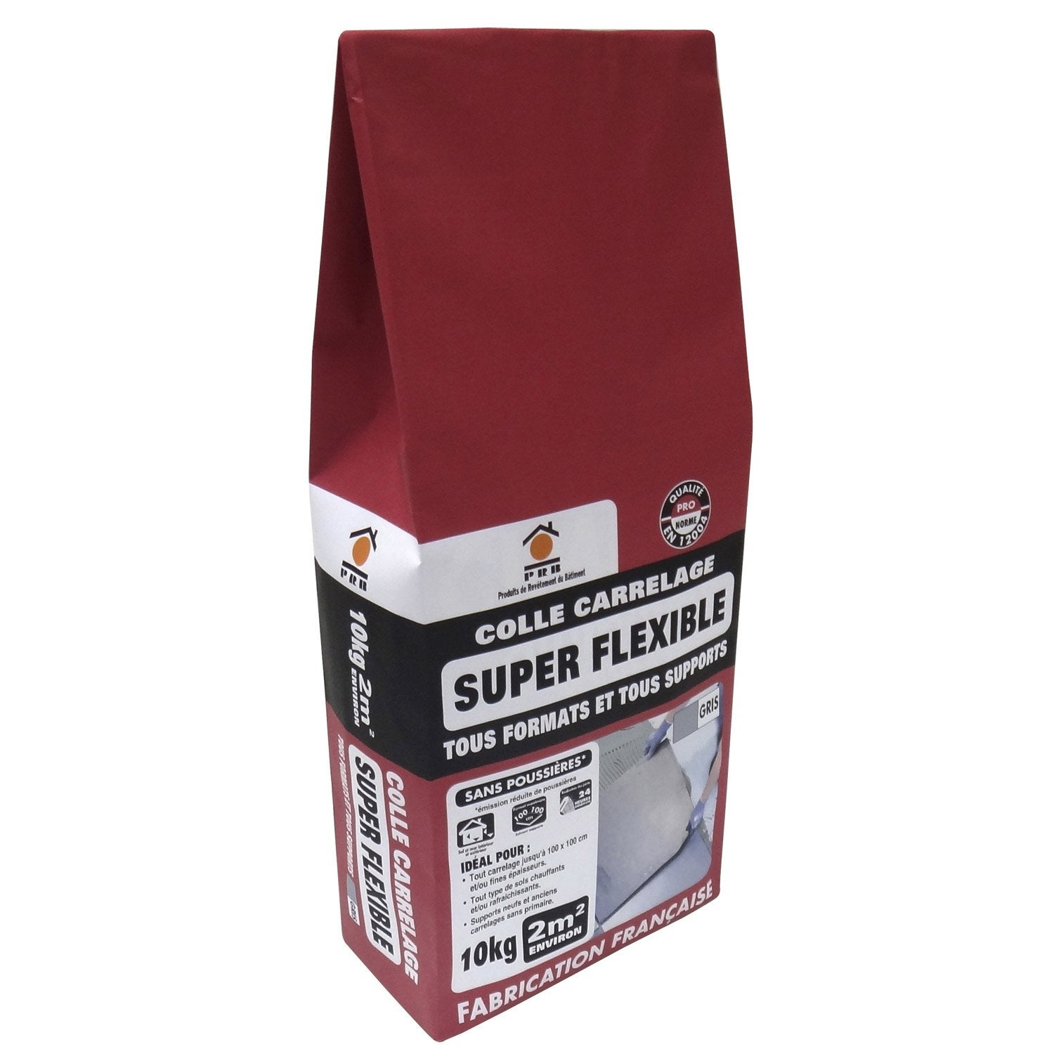 Mortier colle Superflexible pour carrelage mur et sol, 10 kg, gris