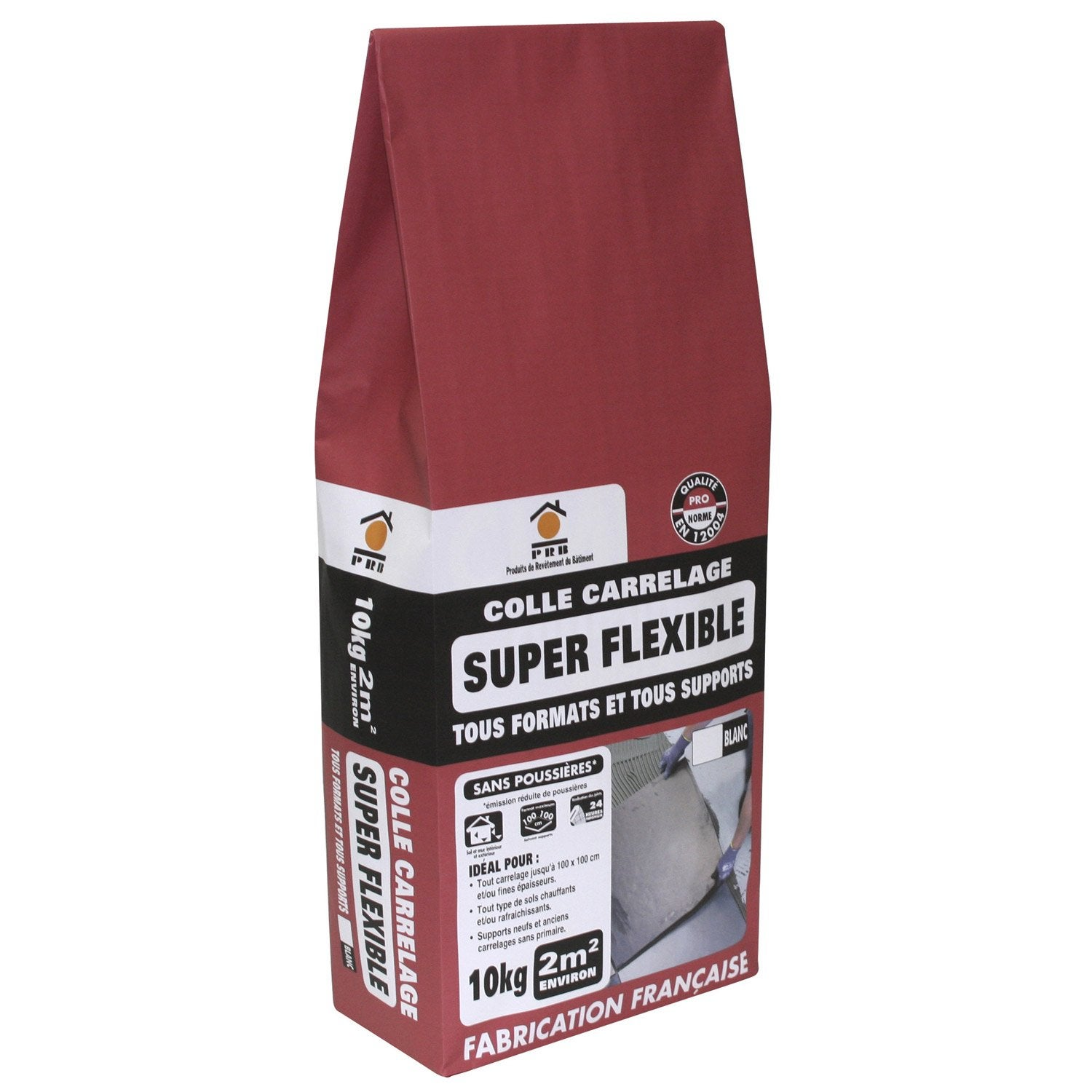 Mortier colle Superflexible pour carrelage mur et sol, 10 kg, blanc