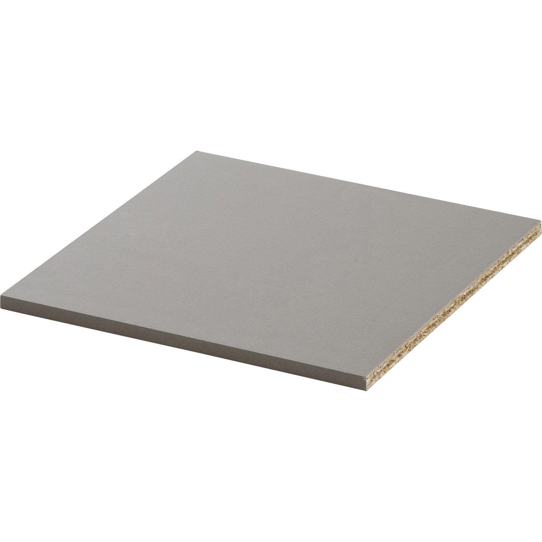 tablette multikaz taupe h 1 2 x x cm leroy merlin. Black Bedroom Furniture Sets. Home Design Ideas