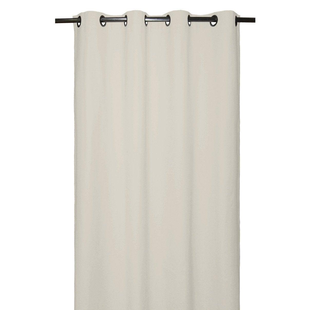 rideau bachet blanc lin n 1 x cm inspire. Black Bedroom Furniture Sets. Home Design Ideas