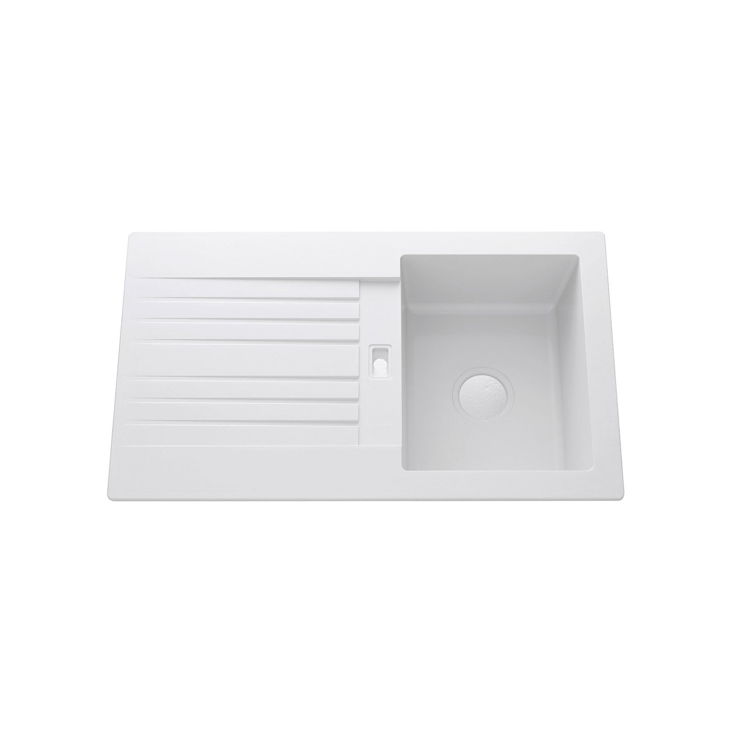 Evier en gres blanc 1 bac beautiful leroy merlin evier for Evier cuisine blanc 1 bac