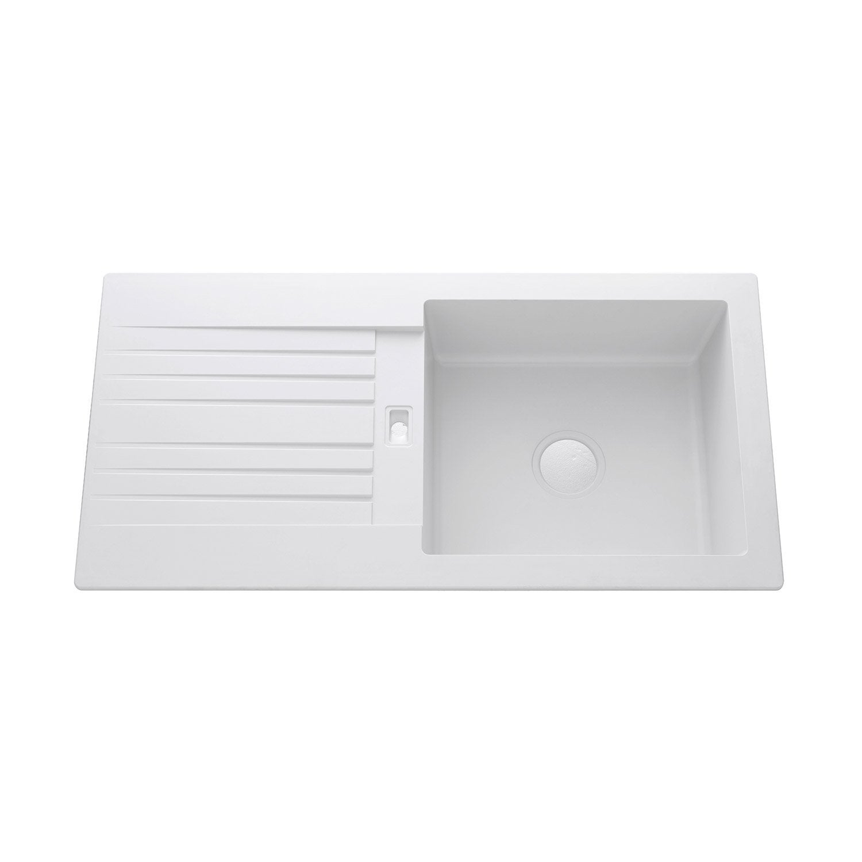 evier encastrer r sine blanc solo 1 grand bac avec. Black Bedroom Furniture Sets. Home Design Ideas
