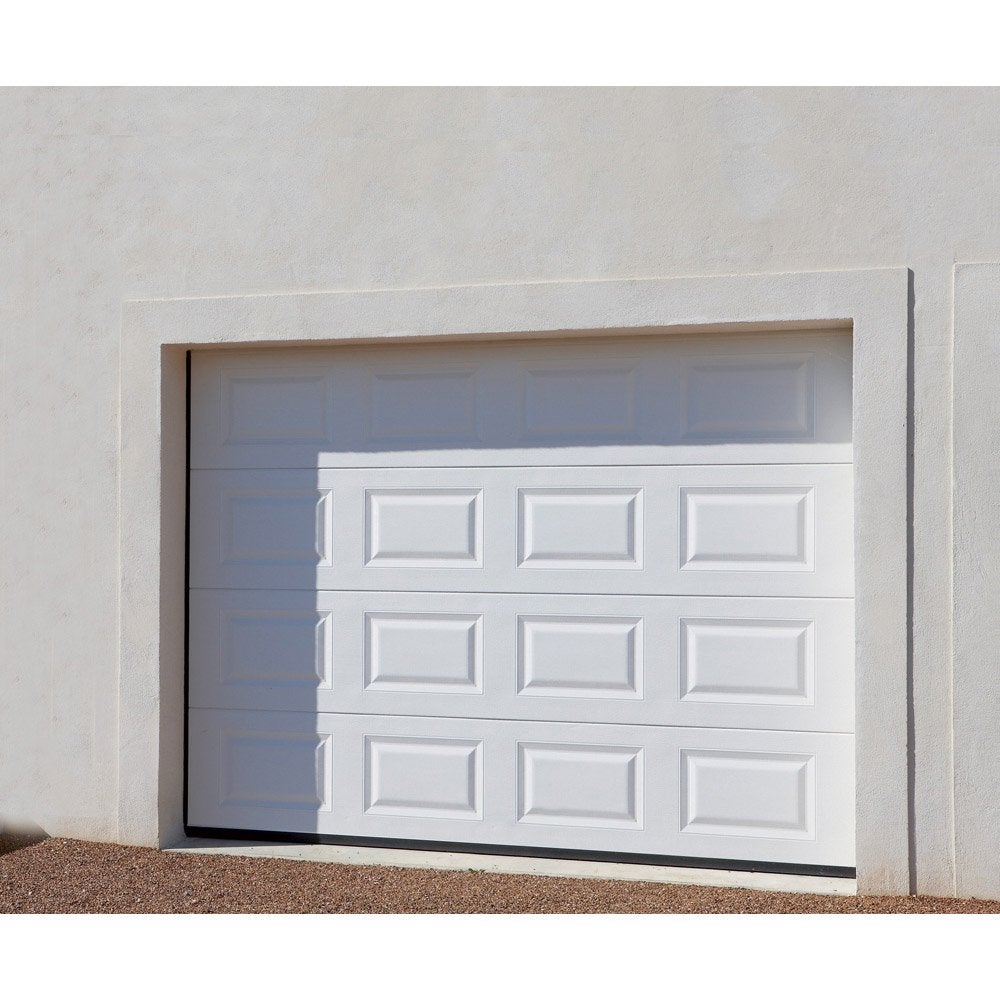 Porte de garage sectionnelle excellence x cm for Baie vitree pour porte de garage leroy merlin