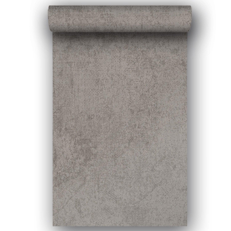 Papier peint intiss monza marron leroy merlin - Leroy merlin papier peint intisse ...