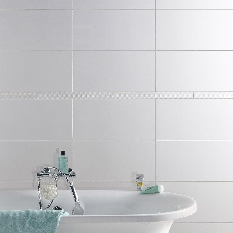 Listel pois blanc l 5 x cm leroy merlin - Frise salle de bain leroy merlin ...
