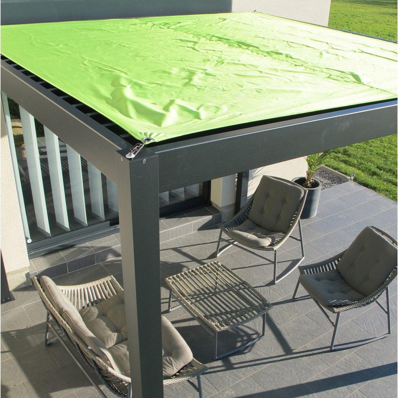 pergola adoss e ombrie aluminium gris anthracite 12 m. Black Bedroom Furniture Sets. Home Design Ideas