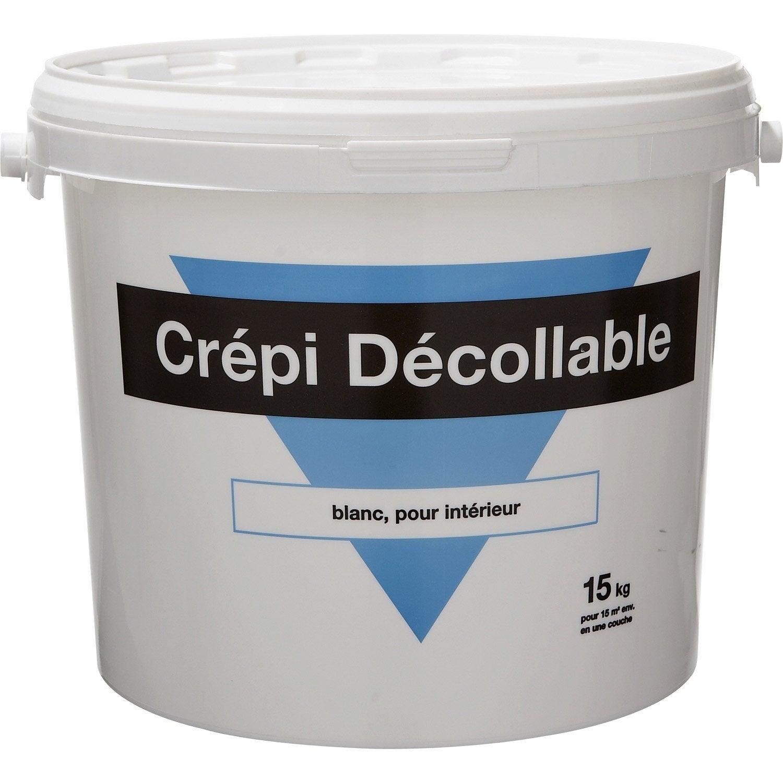 Peinture effet cr pi 1er prix blanc 15 kg leroy merlin for Crepis interieur