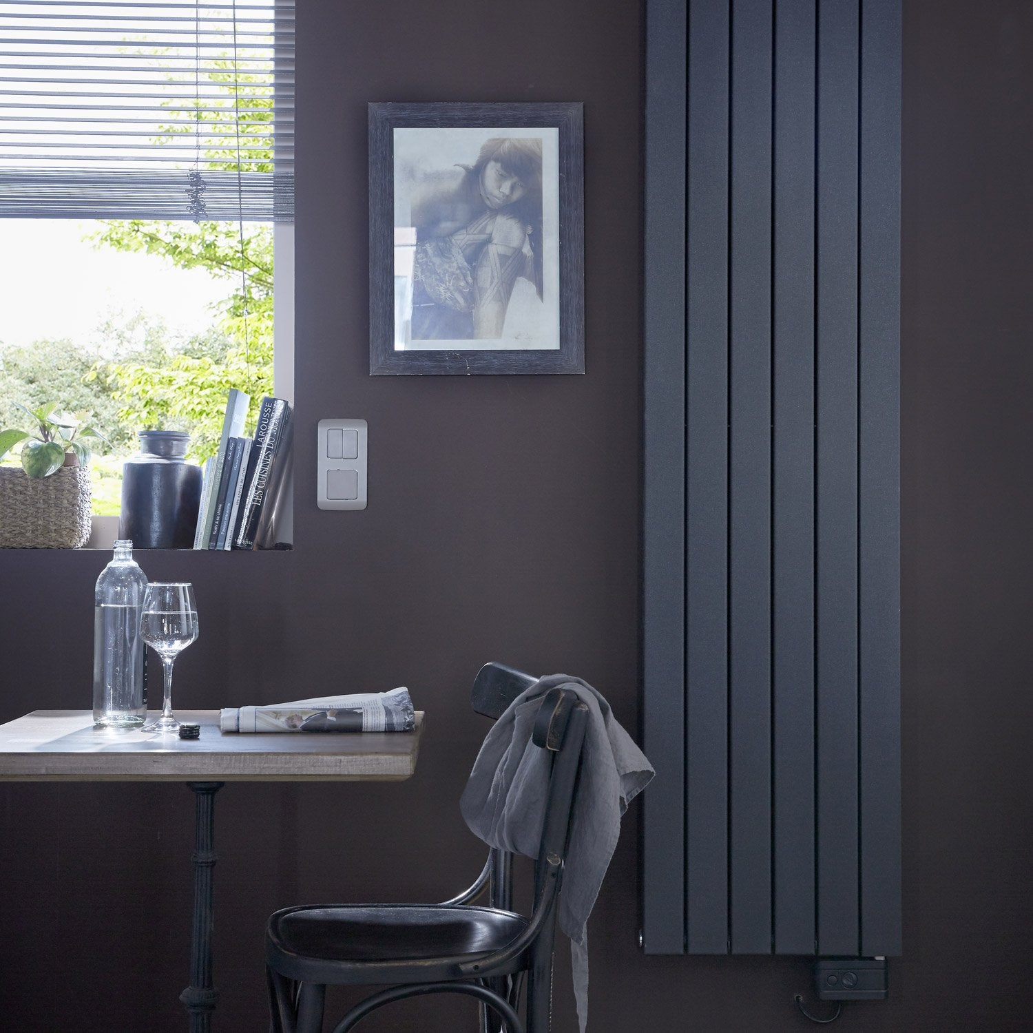 radiateur lectrique deltacalor ramada anthracite 1500 w leroy merlin. Black Bedroom Furniture Sets. Home Design Ideas