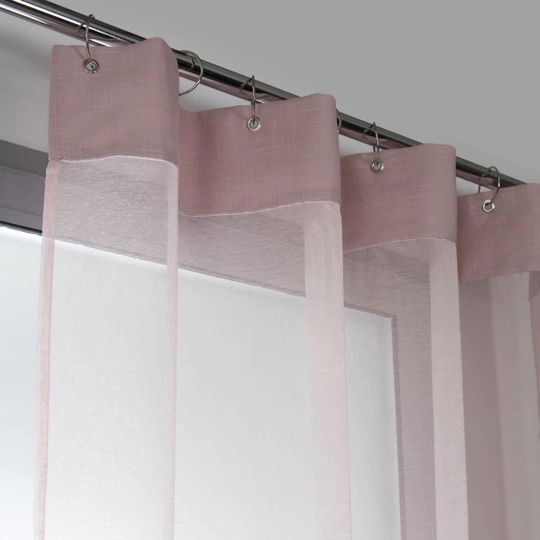 Voilage tamisant cleo rose blush n 5 x cm leroy merlin - Leroy merlin voilages ...