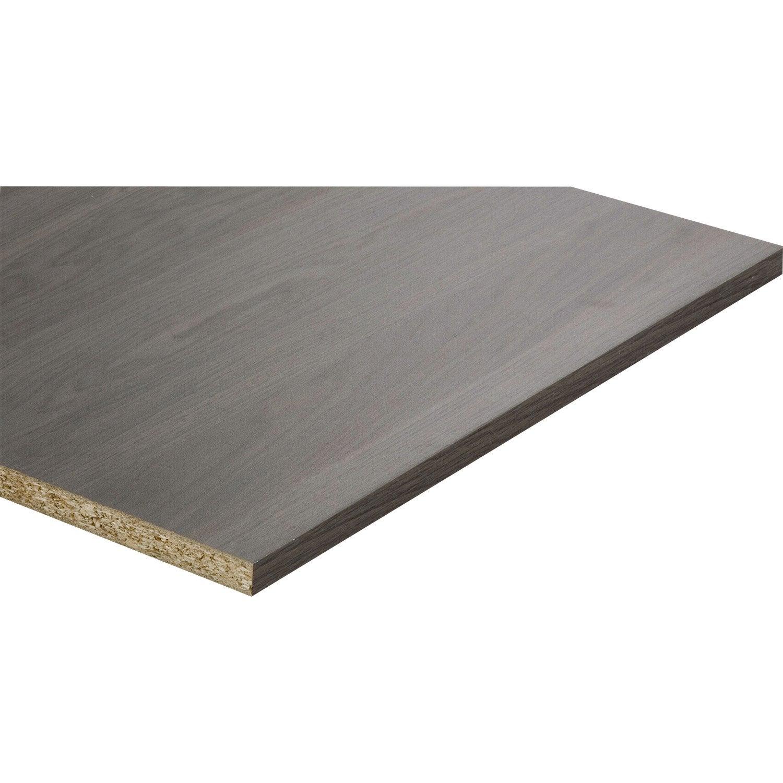 tablette m lamin imitation ch ne anthracite x. Black Bedroom Furniture Sets. Home Design Ideas