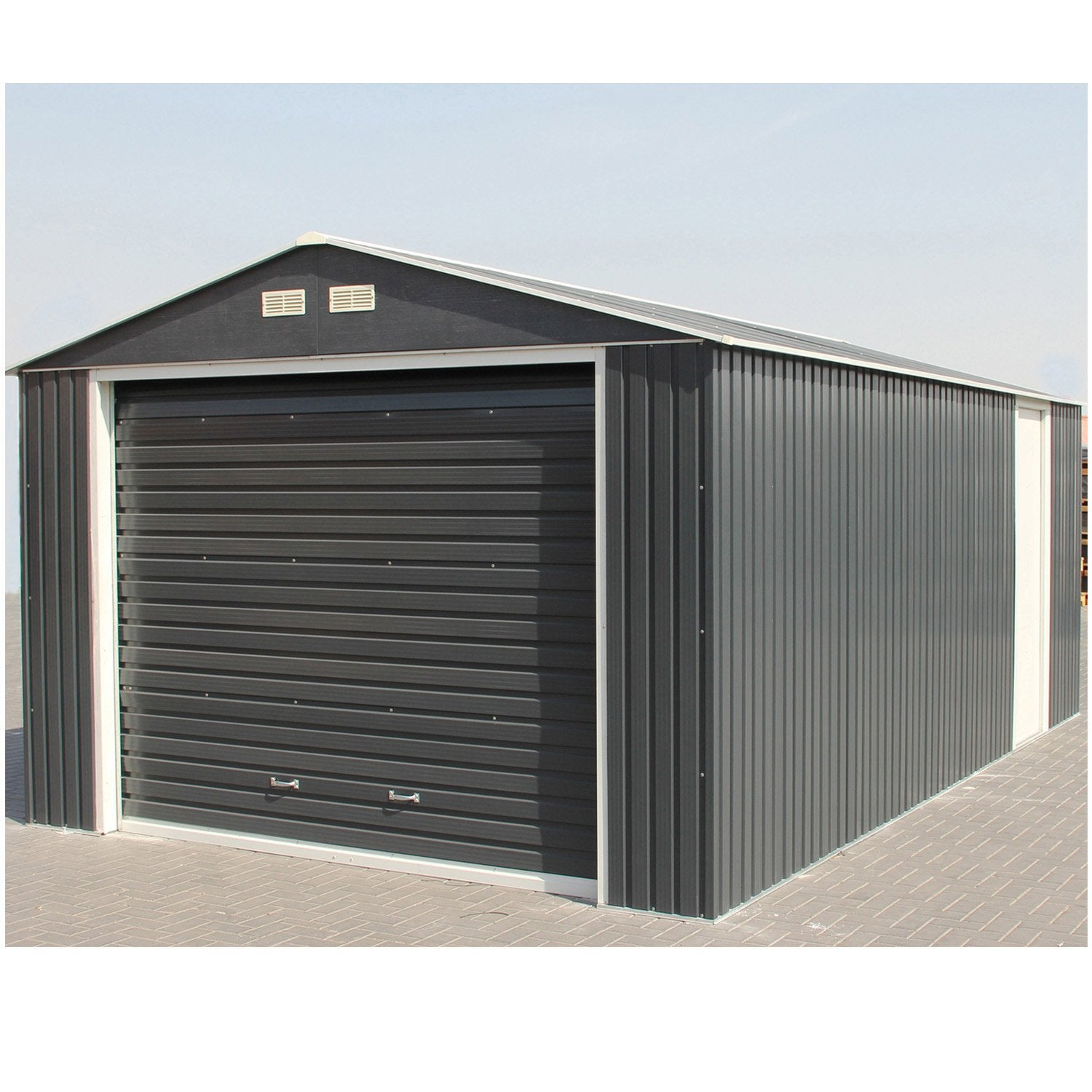 garage m tal duramax porte sectionnelle 1 voiture m leroy merlin. Black Bedroom Furniture Sets. Home Design Ideas