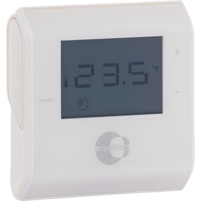 thermostat manuel filaire equation termo leroy merlin. Black Bedroom Furniture Sets. Home Design Ideas