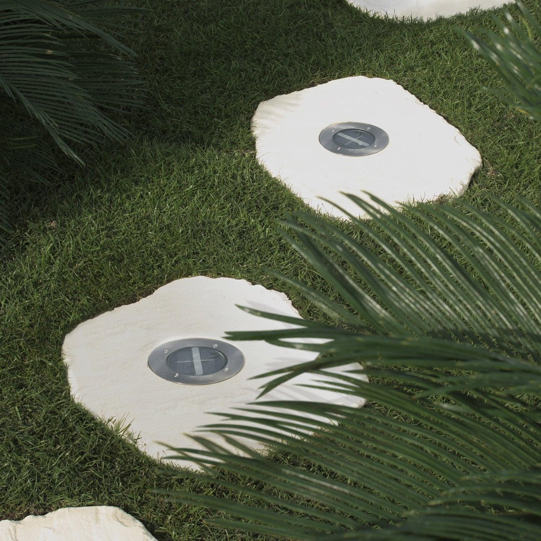 Pas japonais en pierre reconstitu e sol o 45 x 35 cm - Spot piscine leroy merlin ...