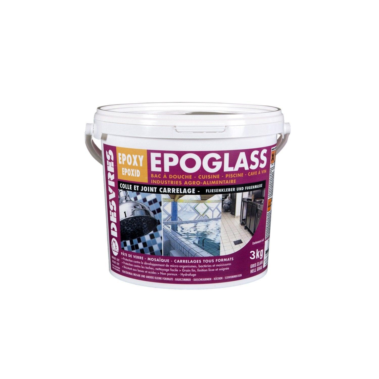 Colle et joint poxy epoglass pour carrelage et mosa que mur et sol 3kg ivo - Colle beton cellulaire leroy merlin ...