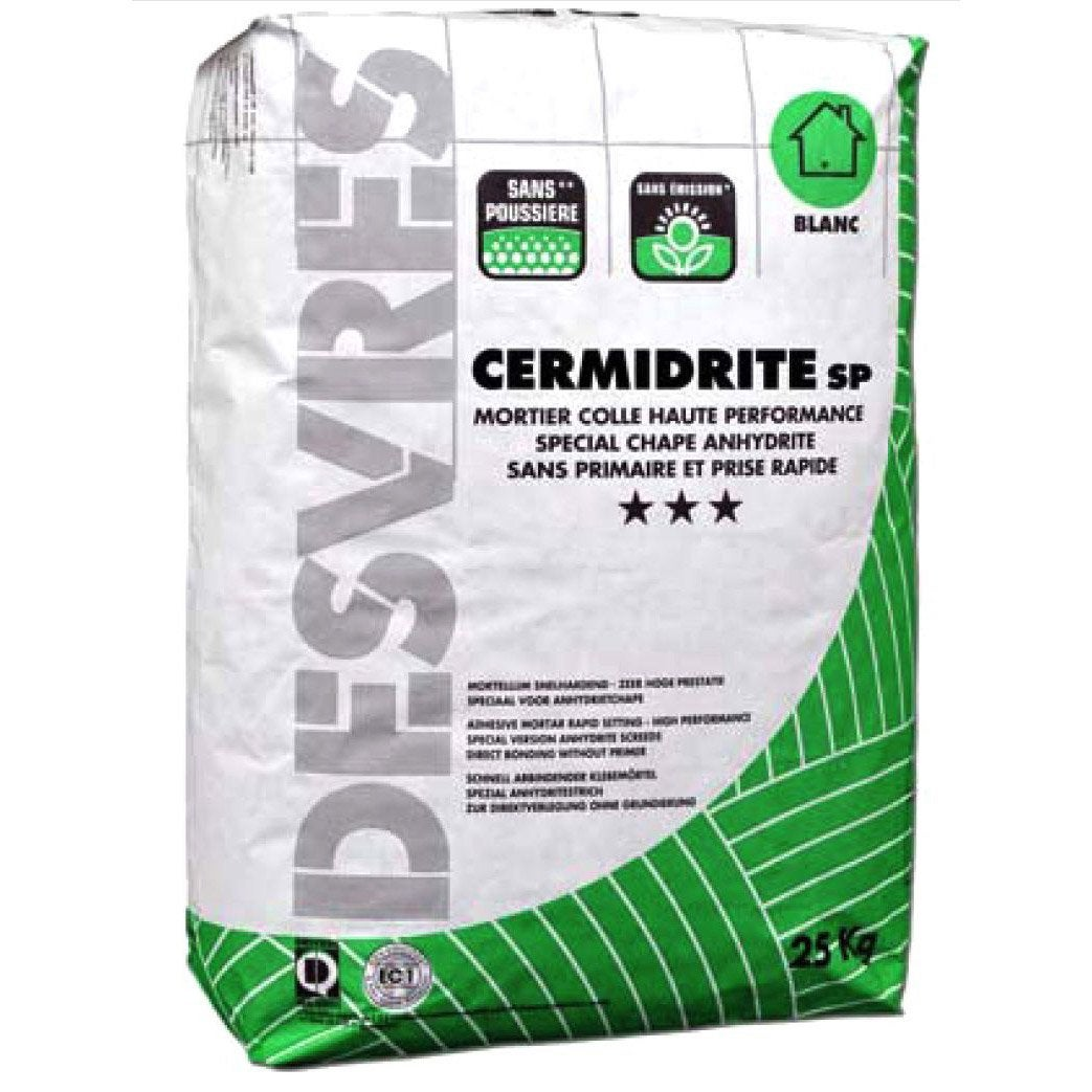 Mortier colle sp cial chape anhydrite pour carrelage sol 25 kg blanc lero - Colle pour gazon synthetique leroy merlin ...