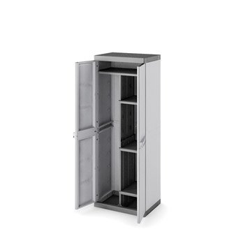 armoire r sine 4 tablettes spaceo utile l65xh175xp45cm leroy merlin. Black Bedroom Furniture Sets. Home Design Ideas