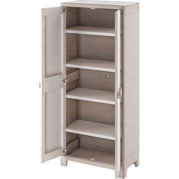 armoire r sine 4 tablettes spaceo premium l80xh182xp44cm leroy merlin. Black Bedroom Furniture Sets. Home Design Ideas