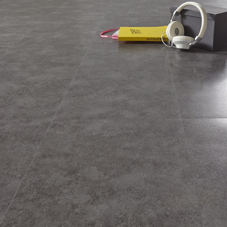 Dalle pvc adh sive anthracite effet b ton aero shy aero leroy merlin - Carrelage effet beton cire leroy merlin ...