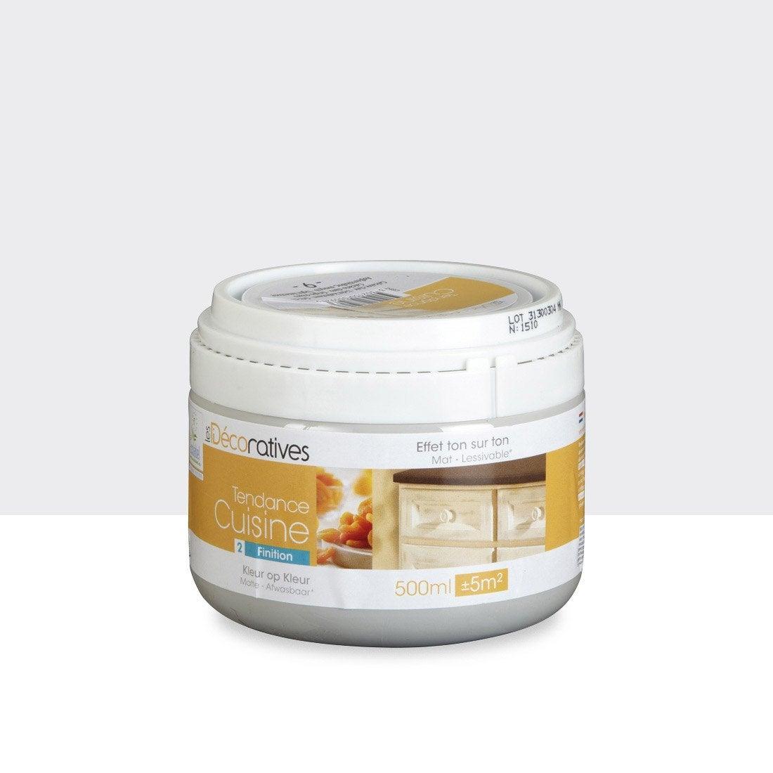 Peinture tendance cuisine les decoratives blanc calcaire clair 0 5 l leroy merlin for Peinture tendances