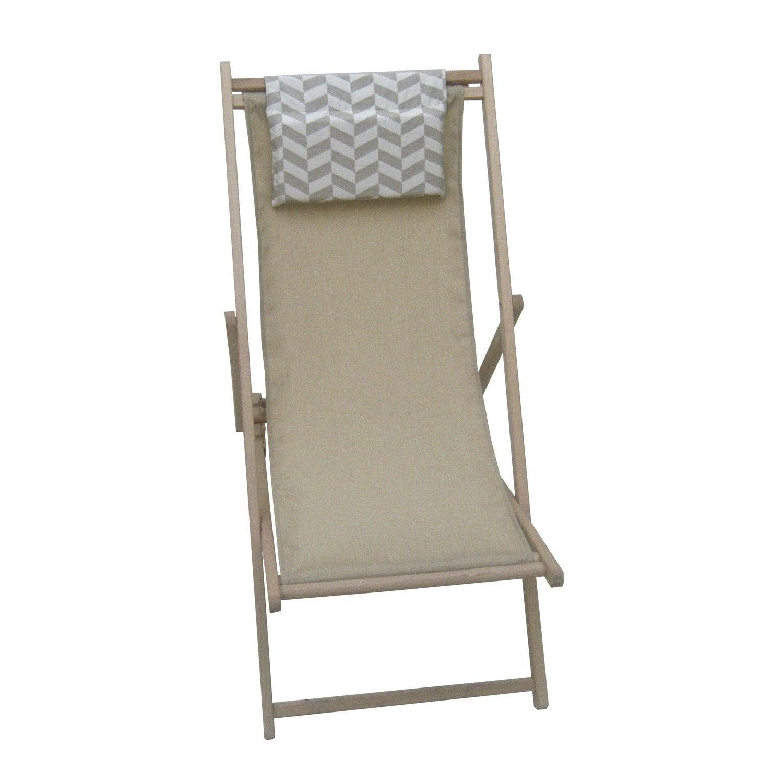 chilienne de jardin en tissu editeur sable leroy merlin. Black Bedroom Furniture Sets. Home Design Ideas