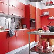Meuble de cuisine rouge DELINIA Délice