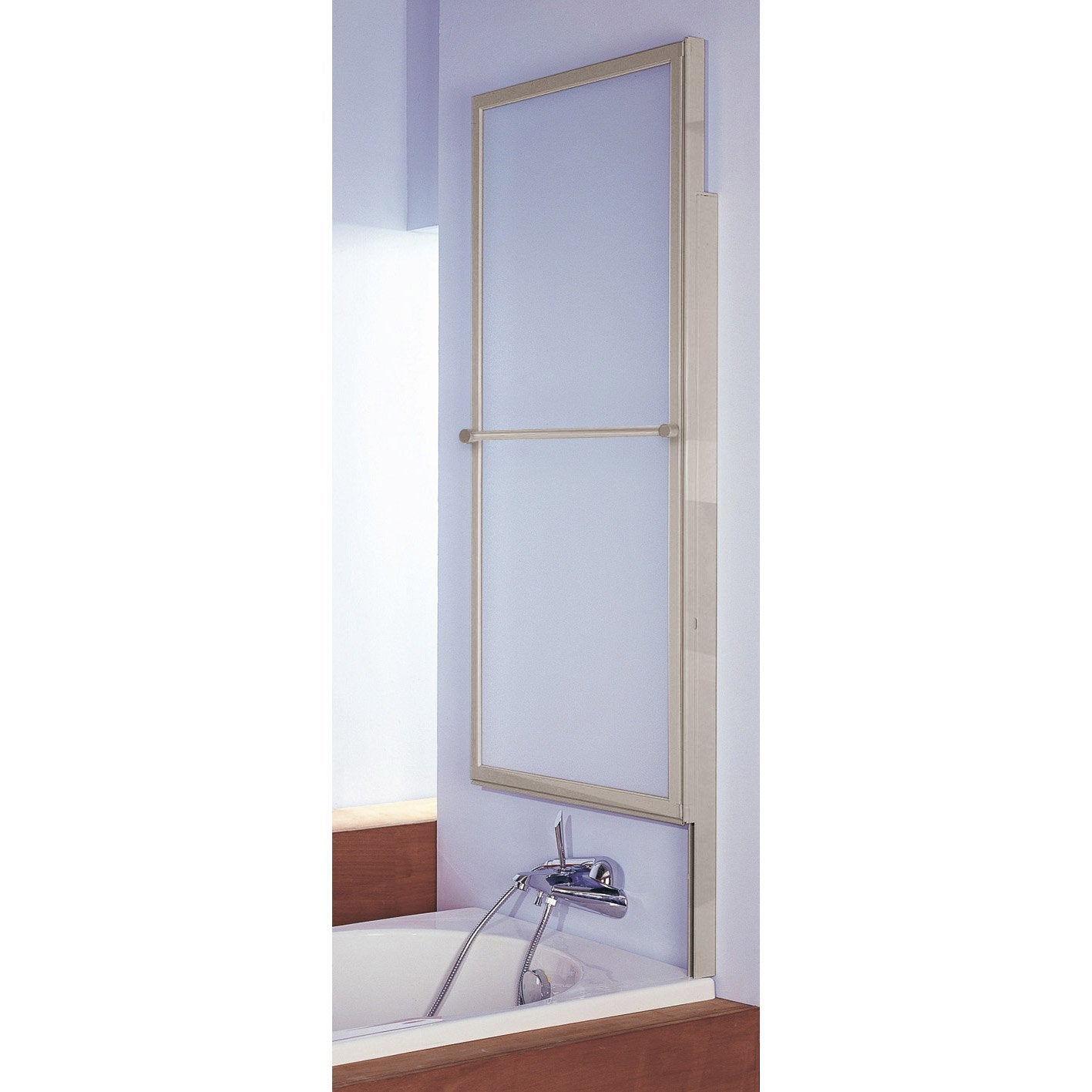 pare baignoire 1 volet verre de s curit 3 mm transparent. Black Bedroom Furniture Sets. Home Design Ideas