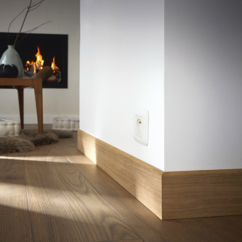 plinthe placage ch ne sans noeud arrondie 12 x 120 mm l 2 2 m leroy merlin. Black Bedroom Furniture Sets. Home Design Ideas