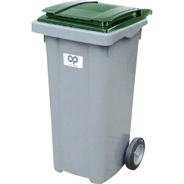 poubelle de rue 240 l x x cm leroy