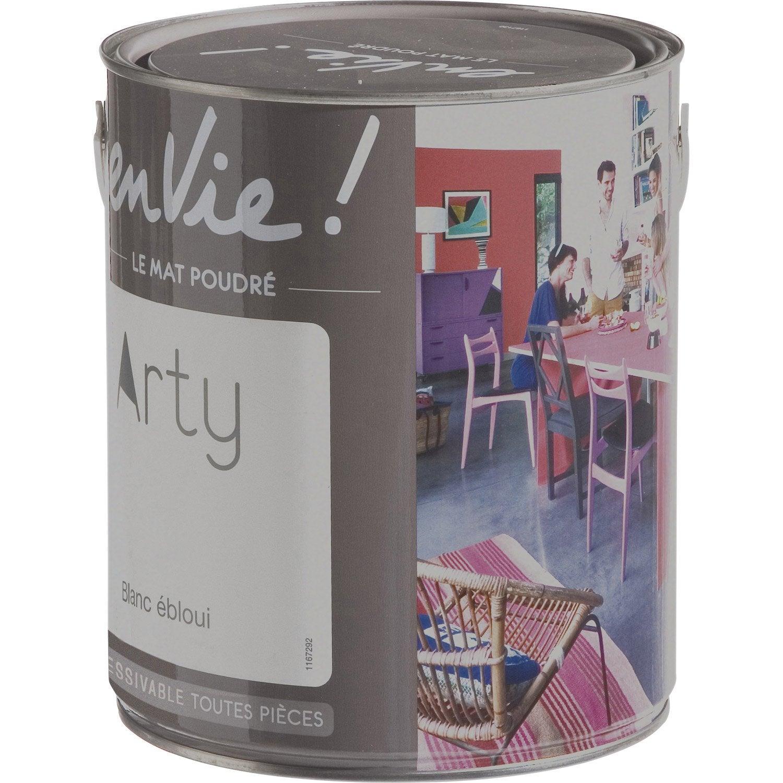 Peinture blanc bloui luxens envie collection arty 2 5 l - Peinture ceruse blanc leroy merlin ...