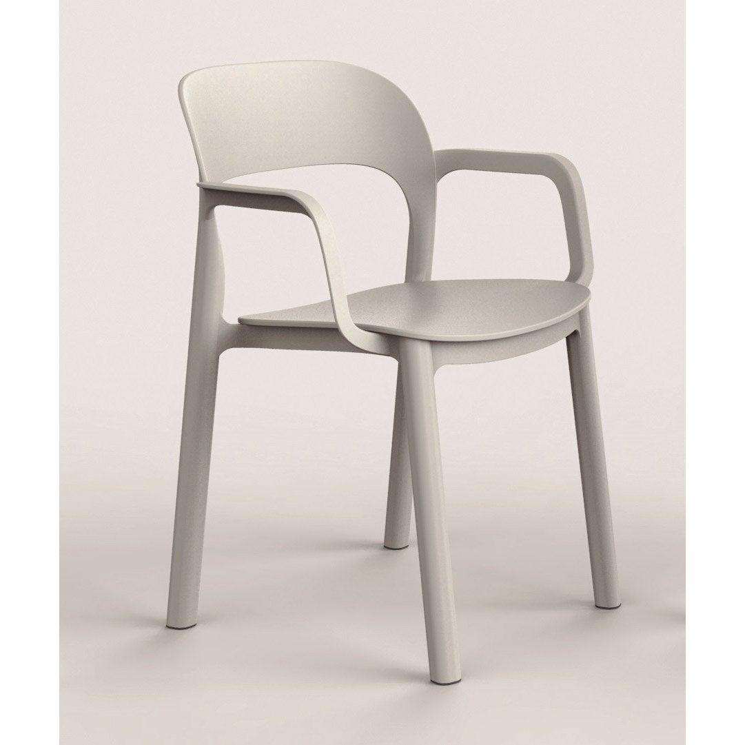 fauteuil de jardin en r sine plastique ona blanc leroy. Black Bedroom Furniture Sets. Home Design Ideas