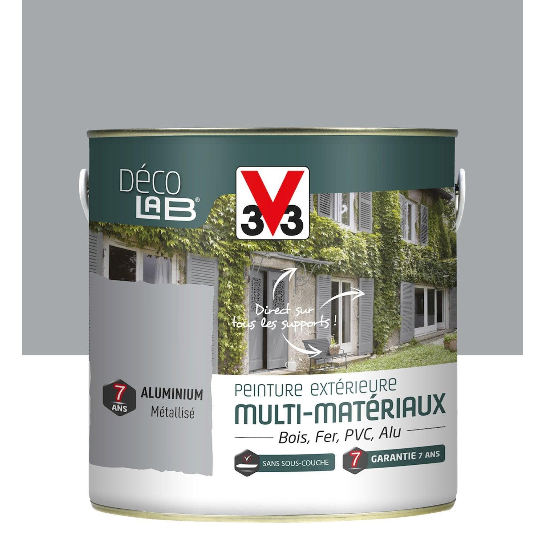 Peinture multimat riau ext rieur v33 aluminium 2 l for Peinture revetement exterieur aluminium