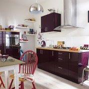 Meuble de cuisine violet DELINIA Rio