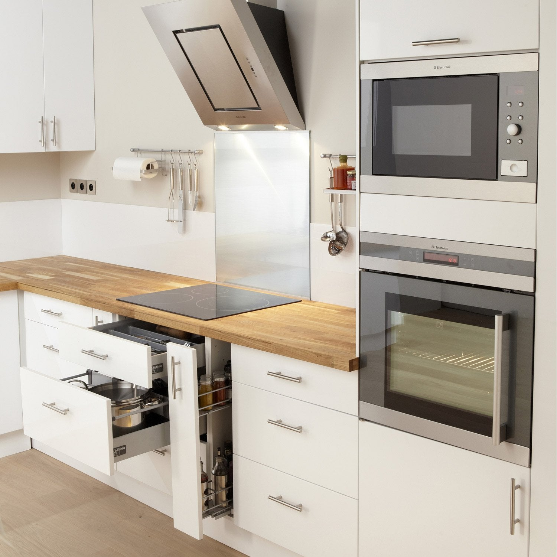 meuble-de-cuisine-blanc-delinia-rio Meilleur De De Cuisine équipée Conforama Conception