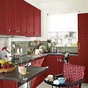 Meuble de cuisine rouge DELINIA Rubis