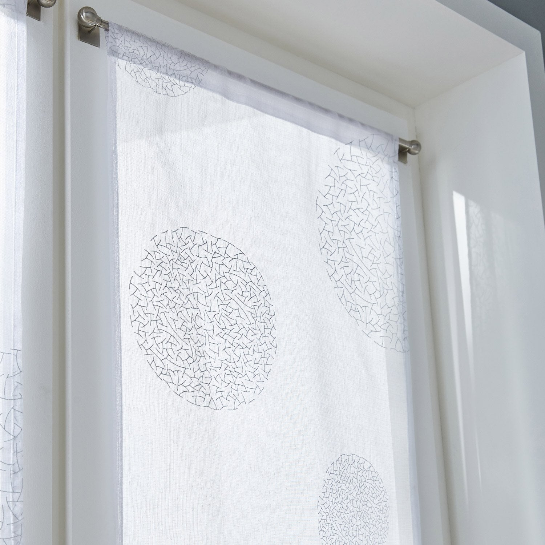 vitrage tamisant plan te blanc x cm leroy merlin. Black Bedroom Furniture Sets. Home Design Ideas