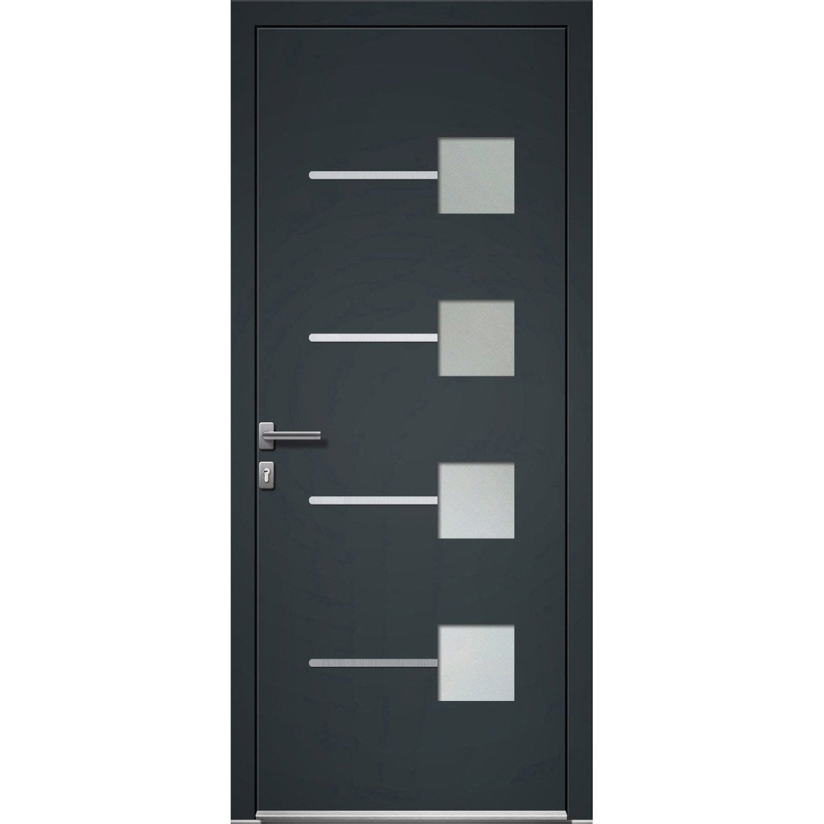 porte d 39 entr e aluminium soria artens poussant droit x cm leroy merlin. Black Bedroom Furniture Sets. Home Design Ideas