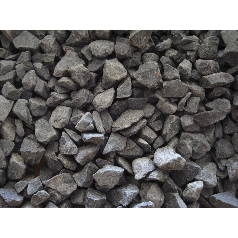 Graviers pierre naturelle noir basalte 6 14mm 25 kg leroy merlin - Pierre naturelle leroy merlin ...