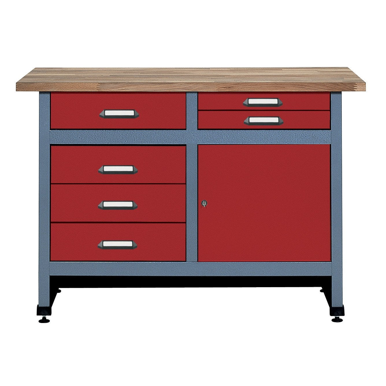 etabli de m canicien kupper 120 cm 1 porte et 6 tiroirs leroy merlin. Black Bedroom Furniture Sets. Home Design Ideas
