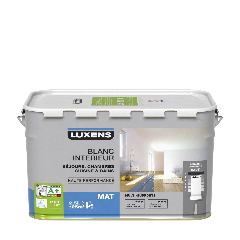Peinture multisupport luxens mat 2 5l leroy merlin - Peinture plafond cuisine mat ou satin ...