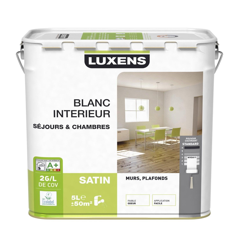 Peinture murs et plafonds luxens satin 5l leroy merlin - Leroy merlin peinture plafond ...