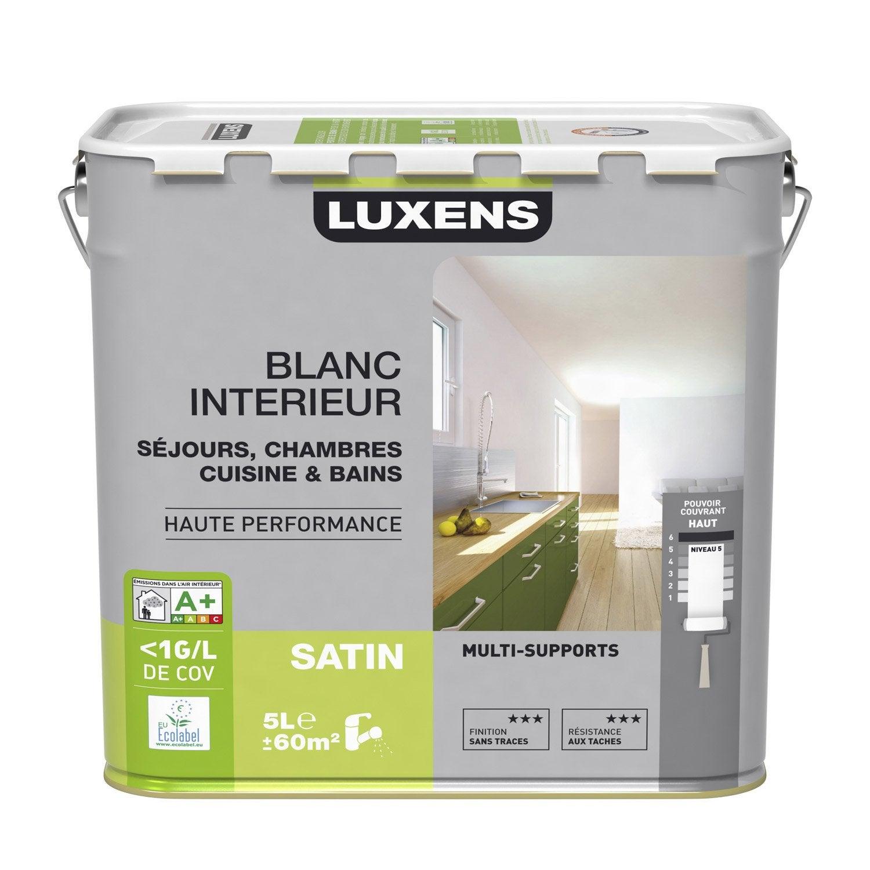 Peinture multisupport luxens satin 5l leroy merlin for Leroy merlin peinture plafond