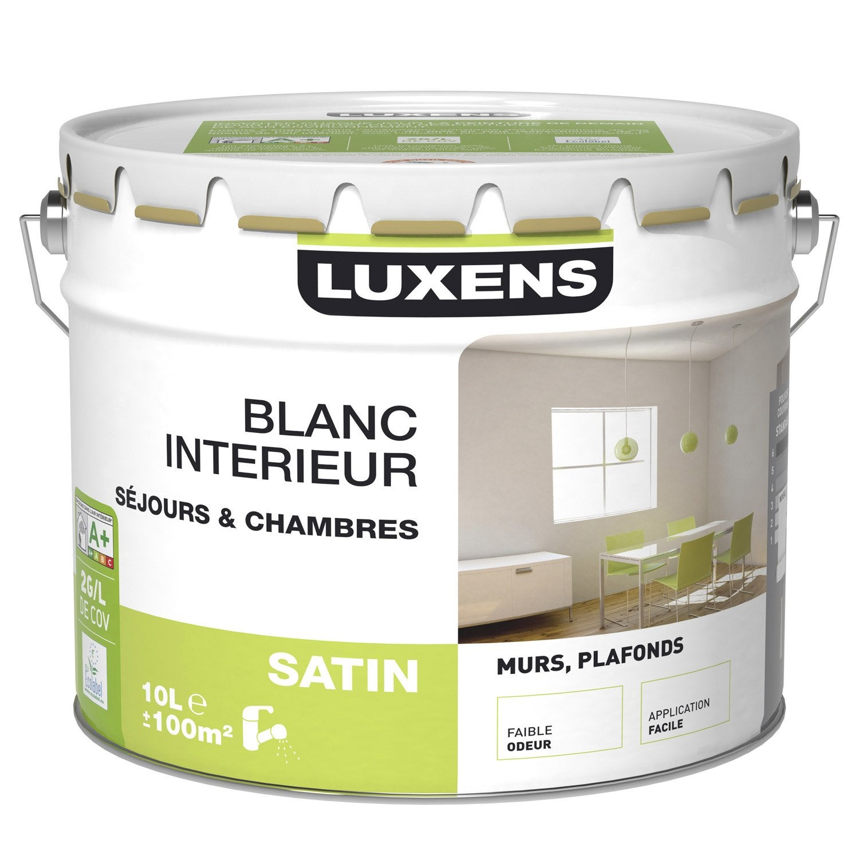 Peinture murs et plafonds luxens satin 10l leroy merlin for Peinture bio leroy merlin