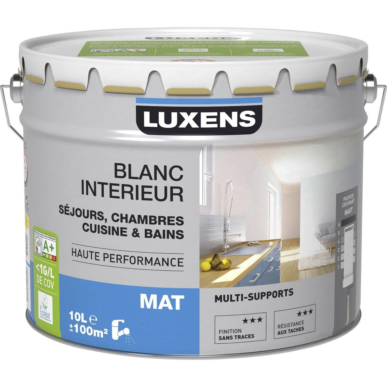 Peinture luxens mat 10 l leroy merlin for Peinture piscine leroy merlin