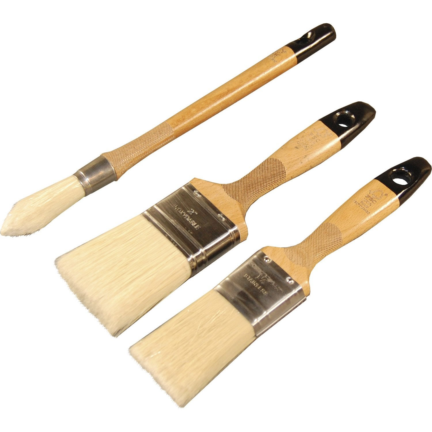 Lot de 3 pinceaux universels dexter pro leroy merlin for Rouleau de peinture decorative