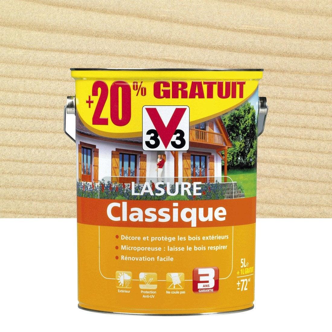 Lasure v33 classique resine de protection pour peinture - Lasure leroy merlin ...