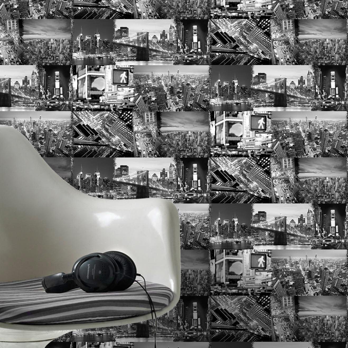 papier peint noir et blanc avec leroy merlin brico depot. Black Bedroom Furniture Sets. Home Design Ideas